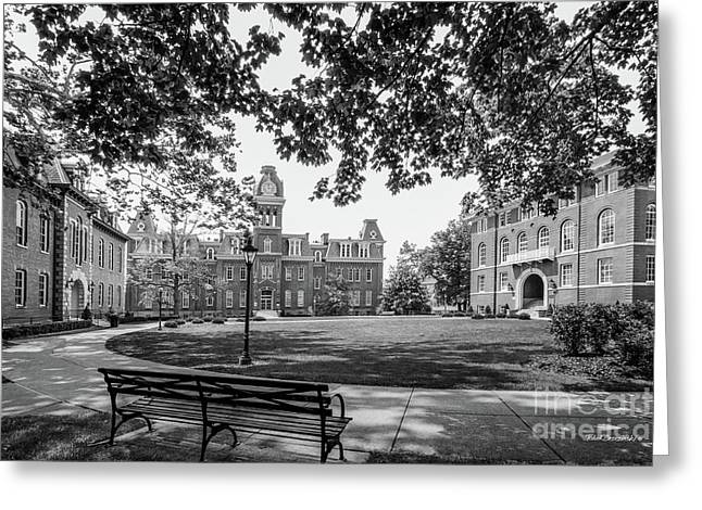 West Virginia University Woodburn Circle Greeting Card by University Icons