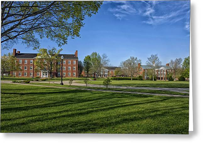 Campus Landscape Greeting Cards - West Virginia Wesleyan College Campus Greeting Card by Mountain Dreams