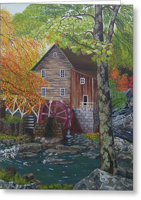 Grist Mill Paintings Greeting Cards - West Virginia Wonder Greeting Card by Cathy Shepard