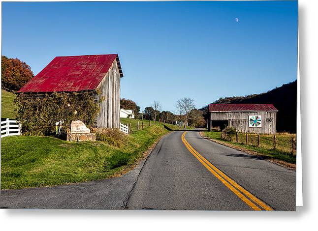 West Virginia's Rural Heritage Quilt Trail Greeting Card by Mountain Dreams