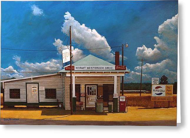 Doug Strickland Greeting Cards - Westbrook Country Store Greeting Card by Doug Strickland
