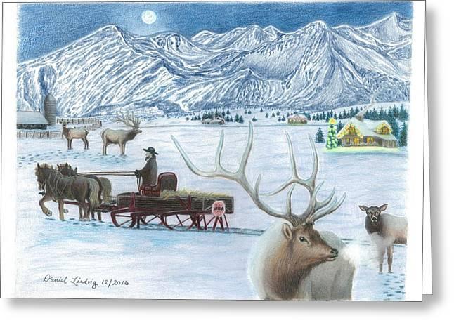 Westcliffe Wonderland Greeting Card by Daniel Lindvig