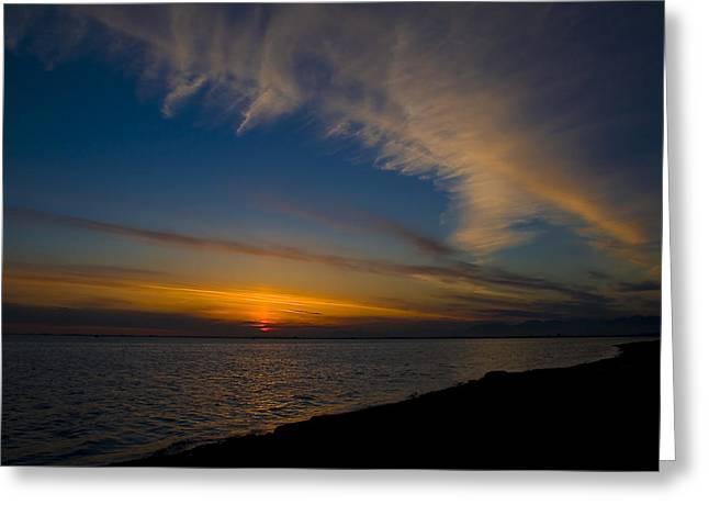 Westcoast Sunset Greeting Card by Naman Imagery