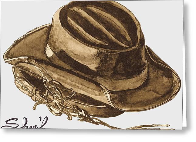 Western Tie Greeting Cards - Western Apparel Greeting Card by Sherril Porter