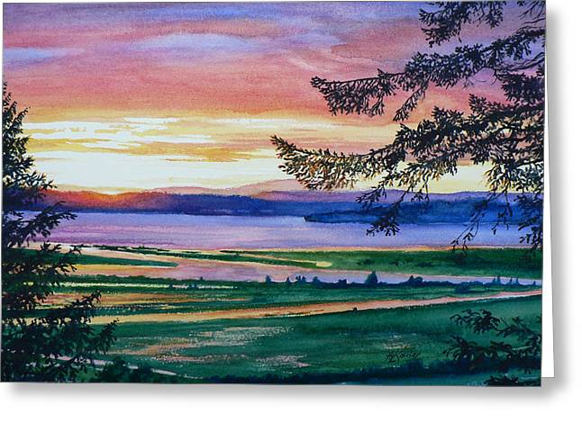 Sunset Prints Greeting Cards - Western Horizon Greeting Card by Hanne Lore Koehler