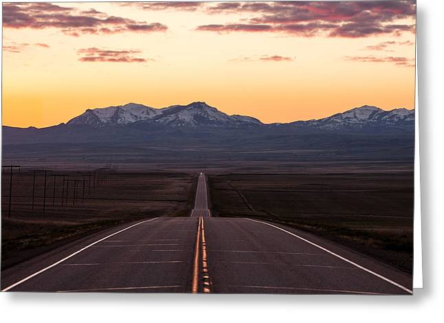 Western Morning Commute Greeting Card by Todd Klassy