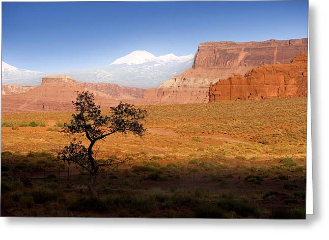 Snow Capped Greeting Cards - Western Ranch Scene Greeting Card by Bryan Allen