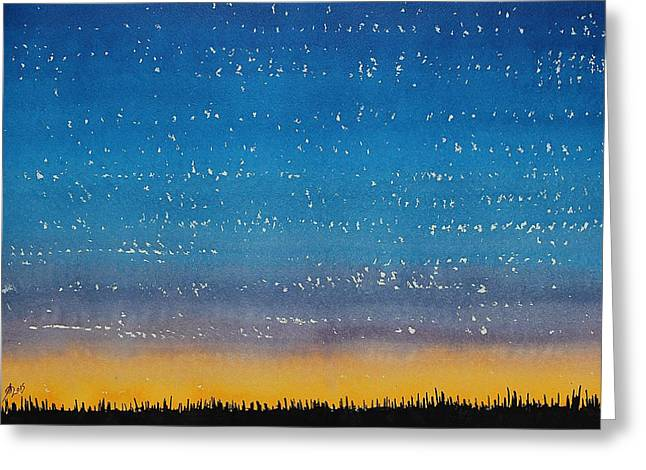 Pen And Paper Greeting Cards - Western Stars original painting Greeting Card by Sol Luckman