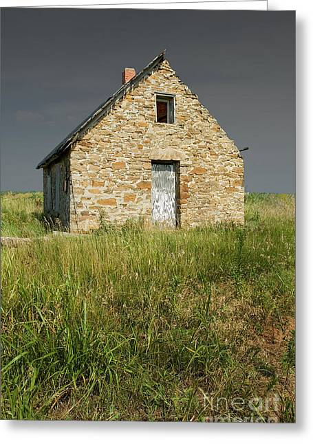 Stone House Greeting Cards - Western View Greeting Card by Fred Lassmann