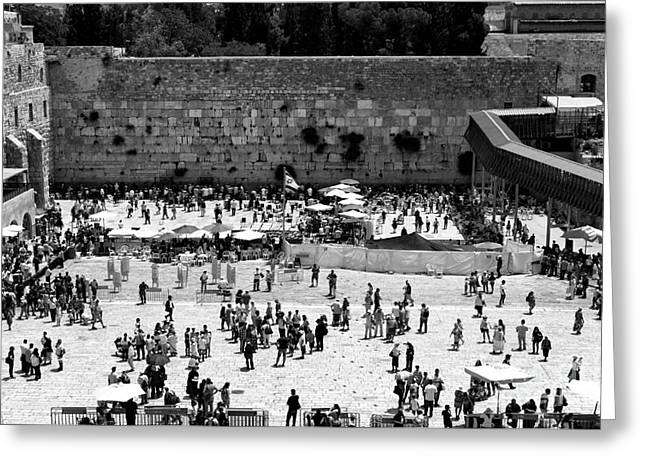 Contemporary Western Fine Art Greeting Cards - Western Wall Greeting Card by John Rizzuto