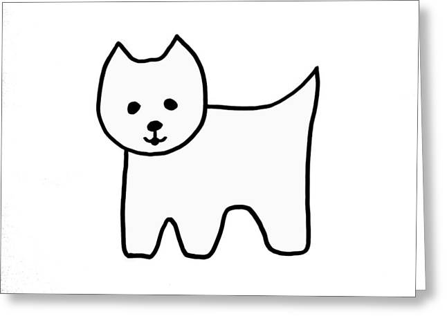 Westie1 Greeting Card by Cynthia Cook