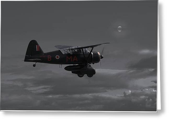 Resistance Greeting Cards - Westland Lysander - Moonlit Mission Greeting Card by Pat Speirs