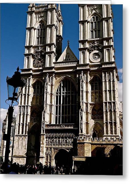 Westminster Abbey Greeting Card by Ira Shander