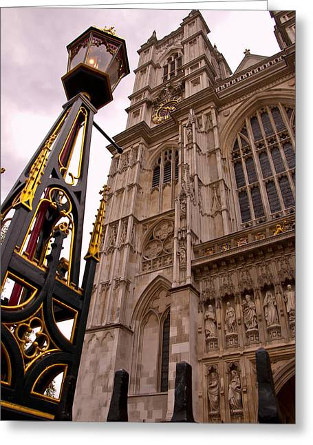 Jon Berghoff Greeting Cards - Westminster Abbey London England Greeting Card by Jon Berghoff