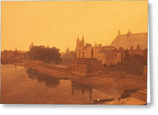Westminster Abbey  Greeting Card by Peter de Wint