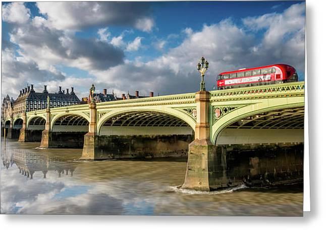 Westminster Bridge Greeting Card by Adrian Evans