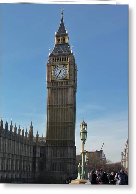 Westminster Bridge Greeting Card by Terri Waters