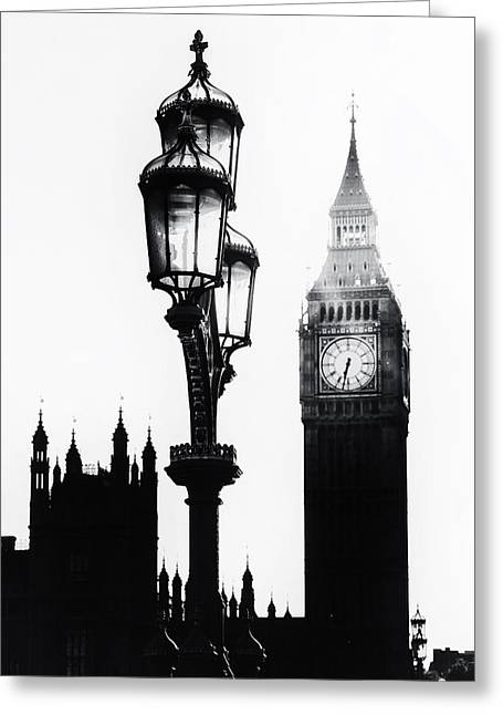 Lamp Post Greeting Cards - Westminster - London Greeting Card by Joana Kruse