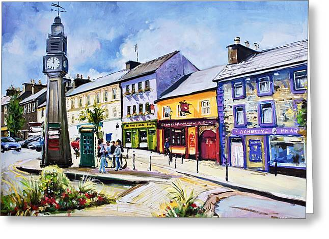 Westport Greeting Cards - Westport Clock County Mayo Greeting Card by Conor McGuire