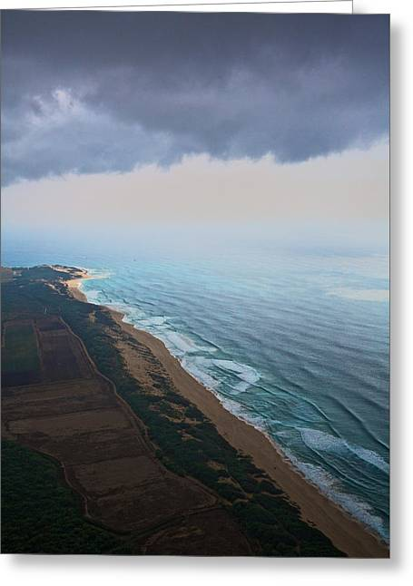 Waimea Falls Greeting Cards - Westshore Kauai Aerial Greeting Card by Steven Lapkin