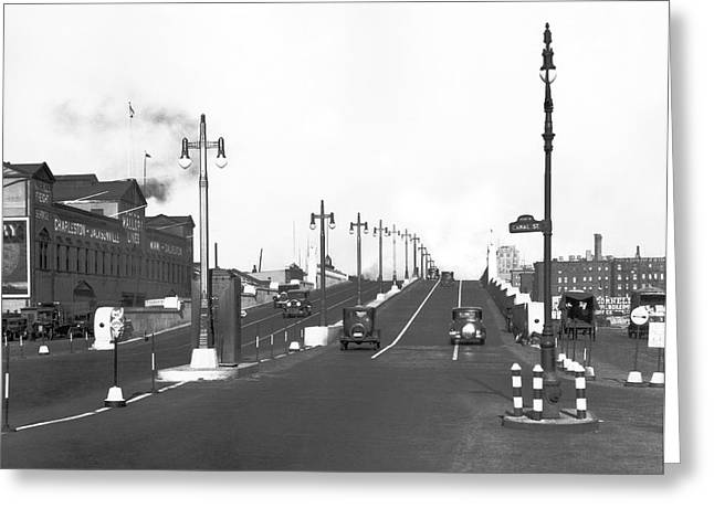 Westside Express Highway In Ny Greeting Card by Underwood Archives
