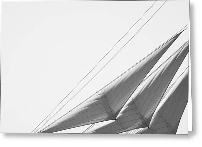 Masts Greeting Cards - Westward On White Greeting Card by Kreddible Trout