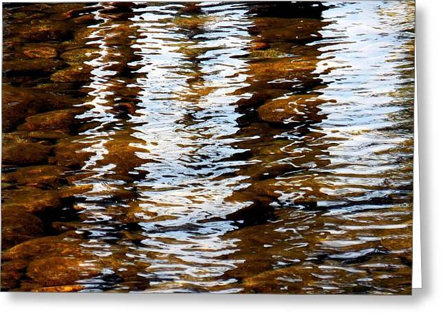 Abstractions Greeting Cards - Wet Light and Subsurface Rocks Greeting Card by Chris Gudger