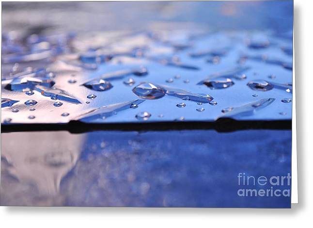 Wet Metal Sheet. Greeting Card by Malgorzata Wryk-Igras