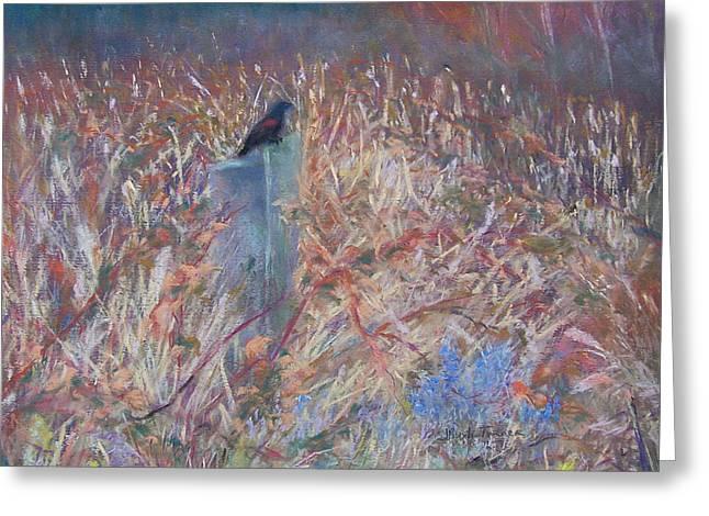 Wetlands Pastels Greeting Cards - Wetland Greeter Greeting Card by Jackie Bush-Turner