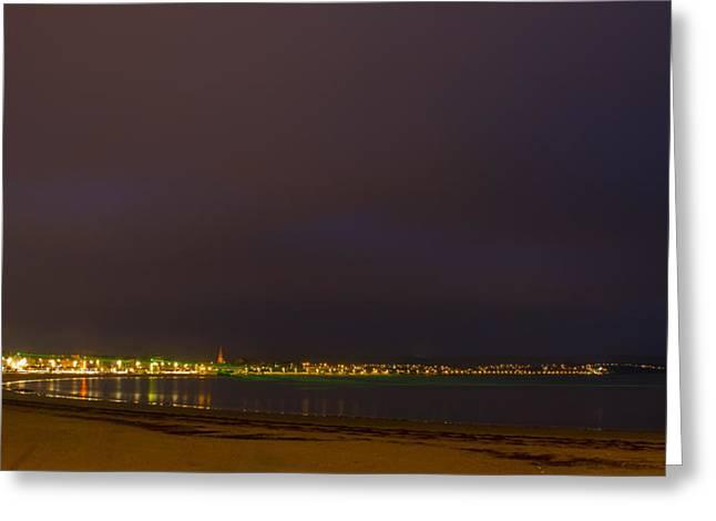 Weymouth Bay Night Greeting Card by David French