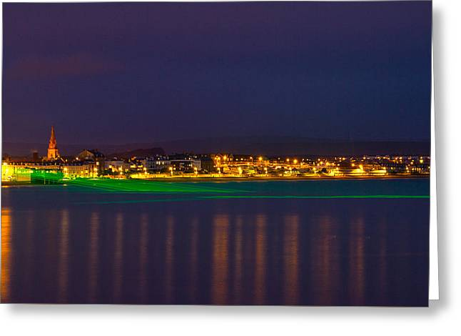 Weymouth Laser Nights Greeting Card by David French