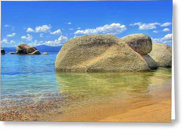 Whale Beach Lake Tahoe Greeting Card by Brad Scott