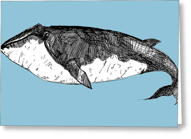 Whale Greeting Cards - Whale Greeting Card by Michael De Alba