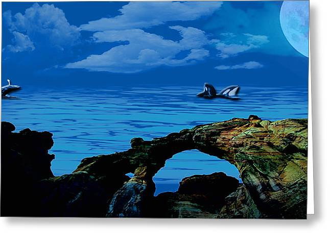 Photographs Pastels Greeting Cards - Whales tales Greeting Card by Evelyn Patrick