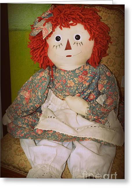 What A Doll Greeting Card by Linda Covino
