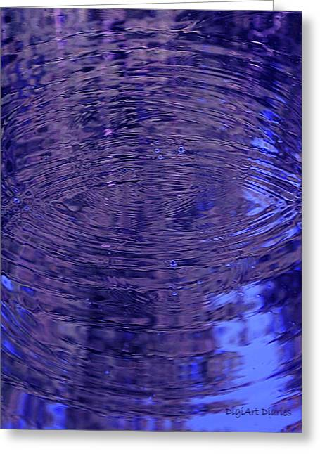 Glassy Lake Surface Greeting Cards - What Breathes Beneath Greeting Card by DigiArt Diaries by Vicky B Fuller