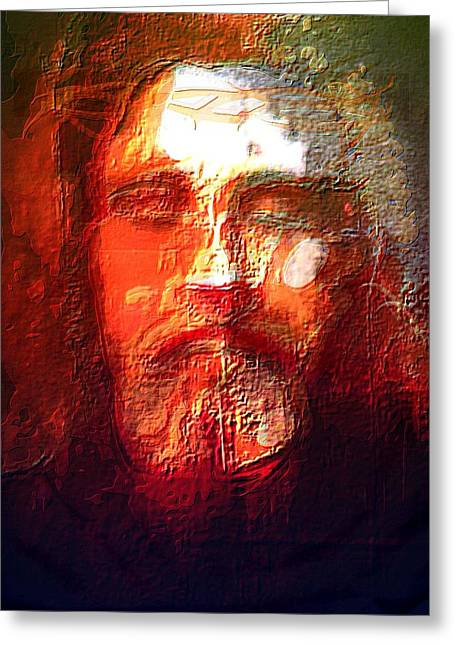 Testament Greeting Cards - What Did Jesus look like Greeting Card by Larry Lamb