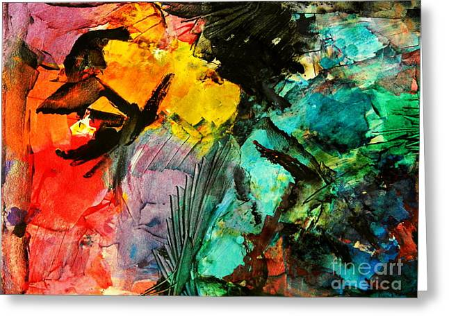 Abstract Expressionist Greeting Cards - What do you know Greeting Card by Expressionistar Priscilla-Batzell