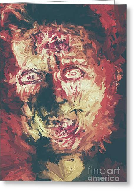Psycho Drawings Greeting Cards - What Ed Geins You Lose Greeting Card by Ryan Jorgensen