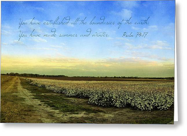 Georgia Cotton Fields Greeting Cards - What Is Done Is Done Greeting Card by Jan Amiss Photography
