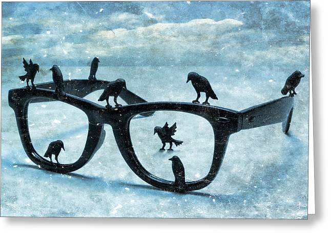 Surreal Landscape Greeting Cards - What The Crows Found Greeting Card by Jeff  Gettis