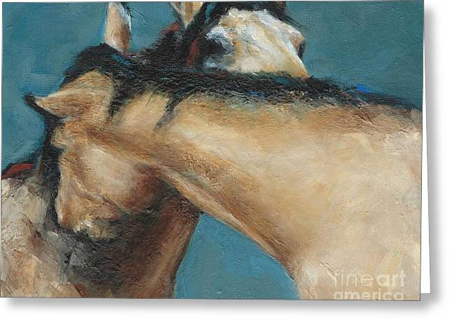 Wild Horse Greeting Cards - What We Can All Use A Little Of  Greeting Card by Frances Marino