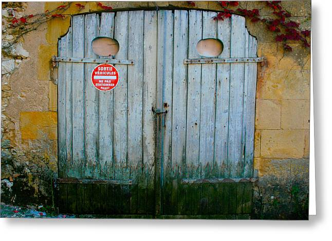 Old Street Greeting Cards - Whats behind the barn door Greeting Card by Nomad Art And  Design