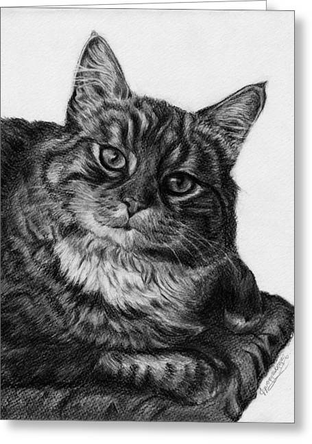 Jyvonne Inman Drawings Greeting Cards - Whats for Dinner Greeting Card by Jyvonne Inman
