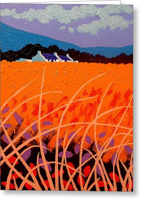 Print Card Greeting Cards - Wheat Field Greeting Card by John  Nolan