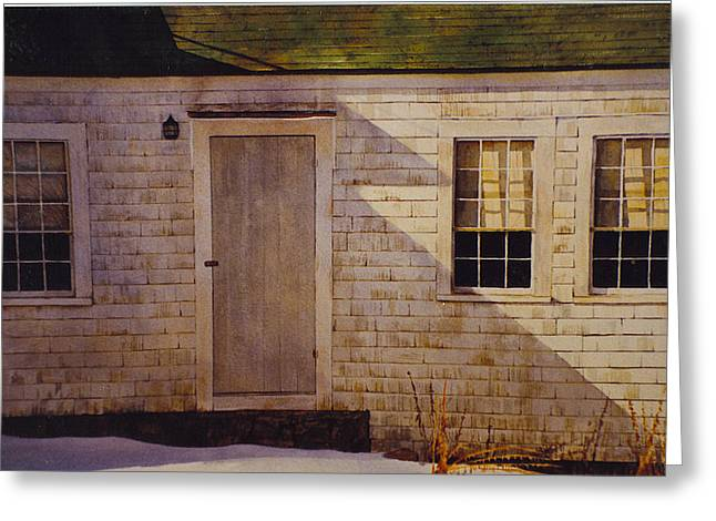 Maine Farmhouse Greeting Cards - Wheathered Side Greeting Card by Tyler Ryder