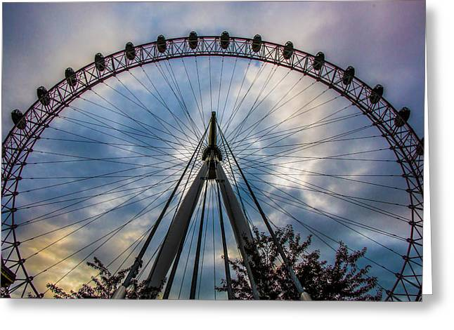 Londoneye Greeting Cards - Wheel Of Colour Greeting Card by Matthew Rattcliff