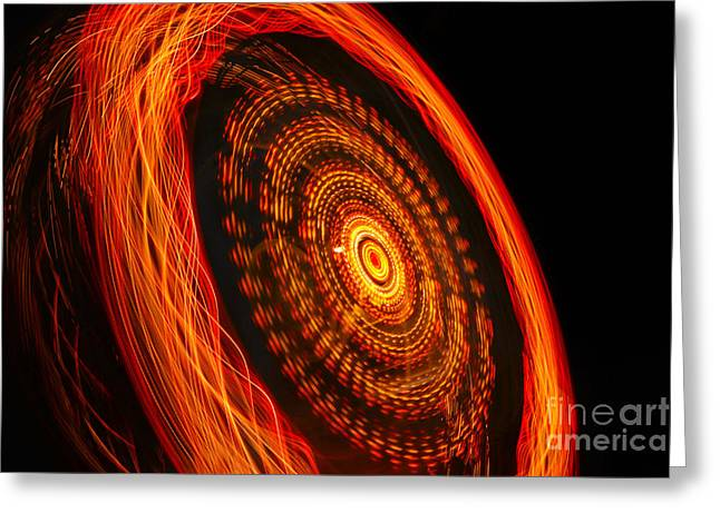Pirate Ships Greeting Cards - Wheel of Fire Greeting Card by Rick Bravo