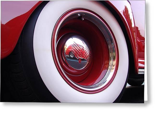 Wheel Reflection Greeting Card by Carol Milisen