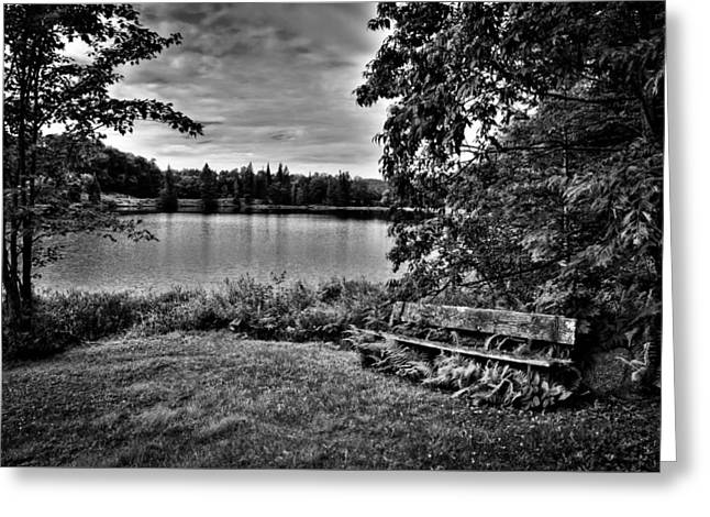 Old And New Greeting Cards - Wheeler Pond in the Adirondack Mountains Greeting Card by David Patterson